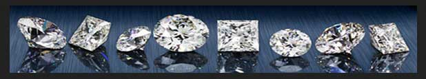 Loose diamonds showing various shapes