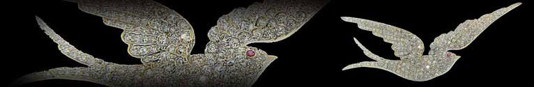Exceptionally large diamond swallow bird brooch
